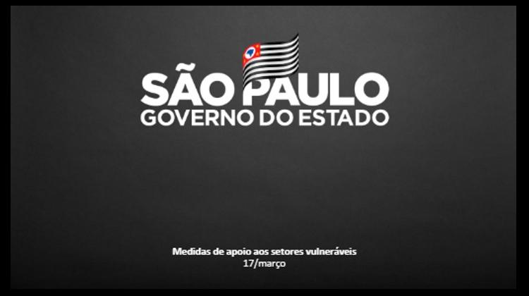 Notícia: Doria lança plano de apoio econômico a setores mais afetados na pandemia