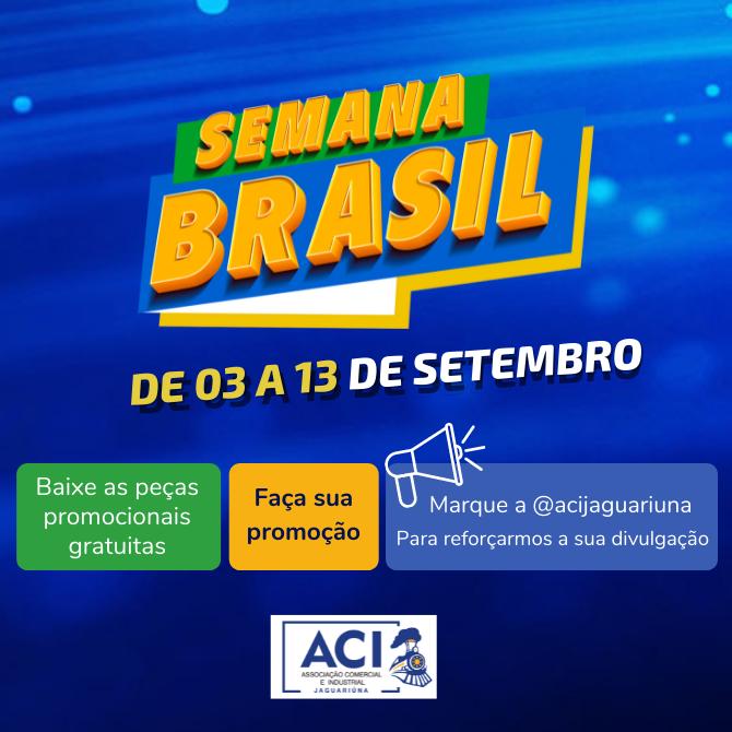 Notícia: PARTICIPE DA SEMANA BRASIL!